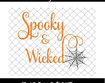 Halloween Themed Svg Etsy