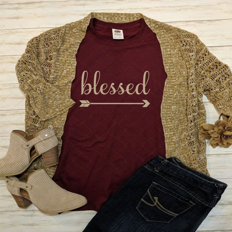 Blessed Svg Blessed With Arrow Svg Png Dxf File Inspirational File Cutting Design Religious  Arrow Svg  Commerical Use Personal Use