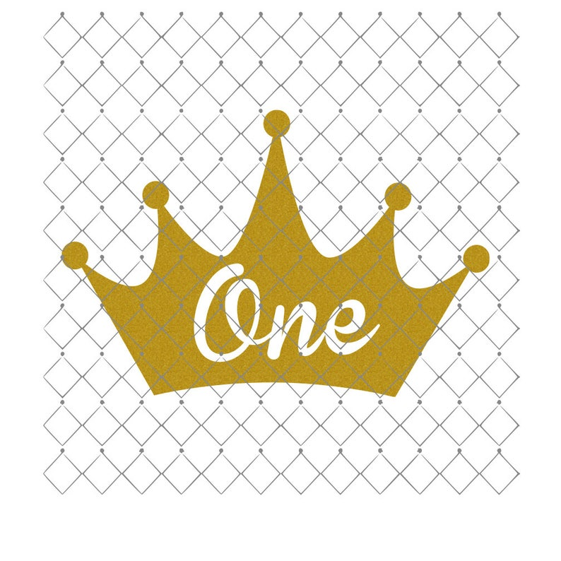 41662584d89 Crown One Iron On Decal Heat Transfer Glitter Decal Only