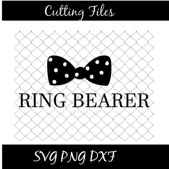 Ring Bearer Svg With Tie Svg File Instant Download Wedding Etsy