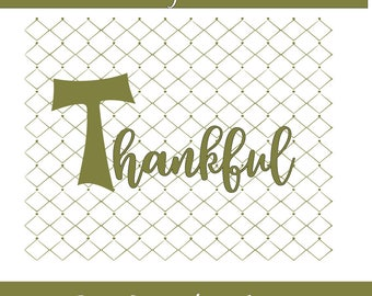 Thankful Svg Png Dxf File Thanksgiving Cutting Design Holiday Cutting File Cricut Cut File Silhouette Cut File