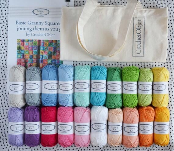 Häkeln Sie Anfänger Kit Oma Platz DIY Muster mit 20 Baumwolle