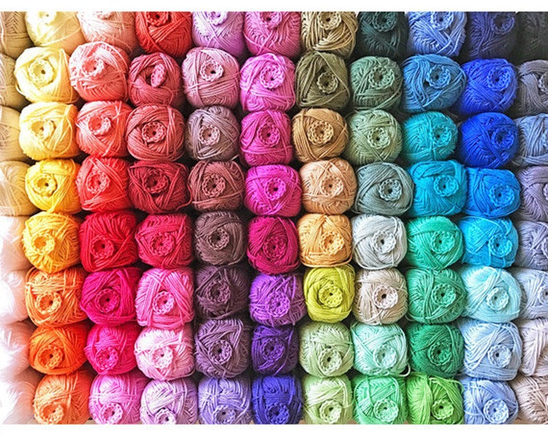 100% Cotton Yarn  Free Shipping  Choose any 24 colours you image 0