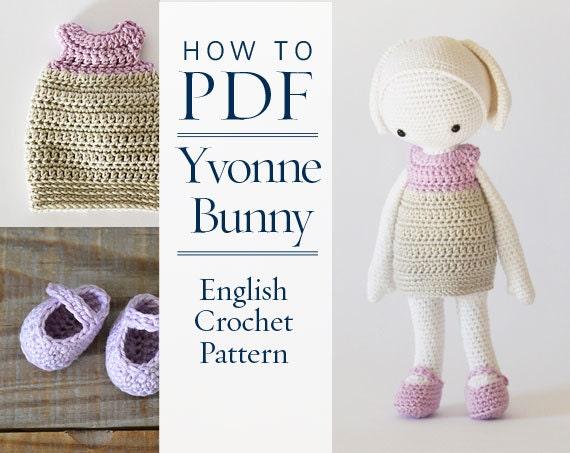 Pretty Bunny amigurumi in pink dress | Oster häkelanleitungen ... | 453x570