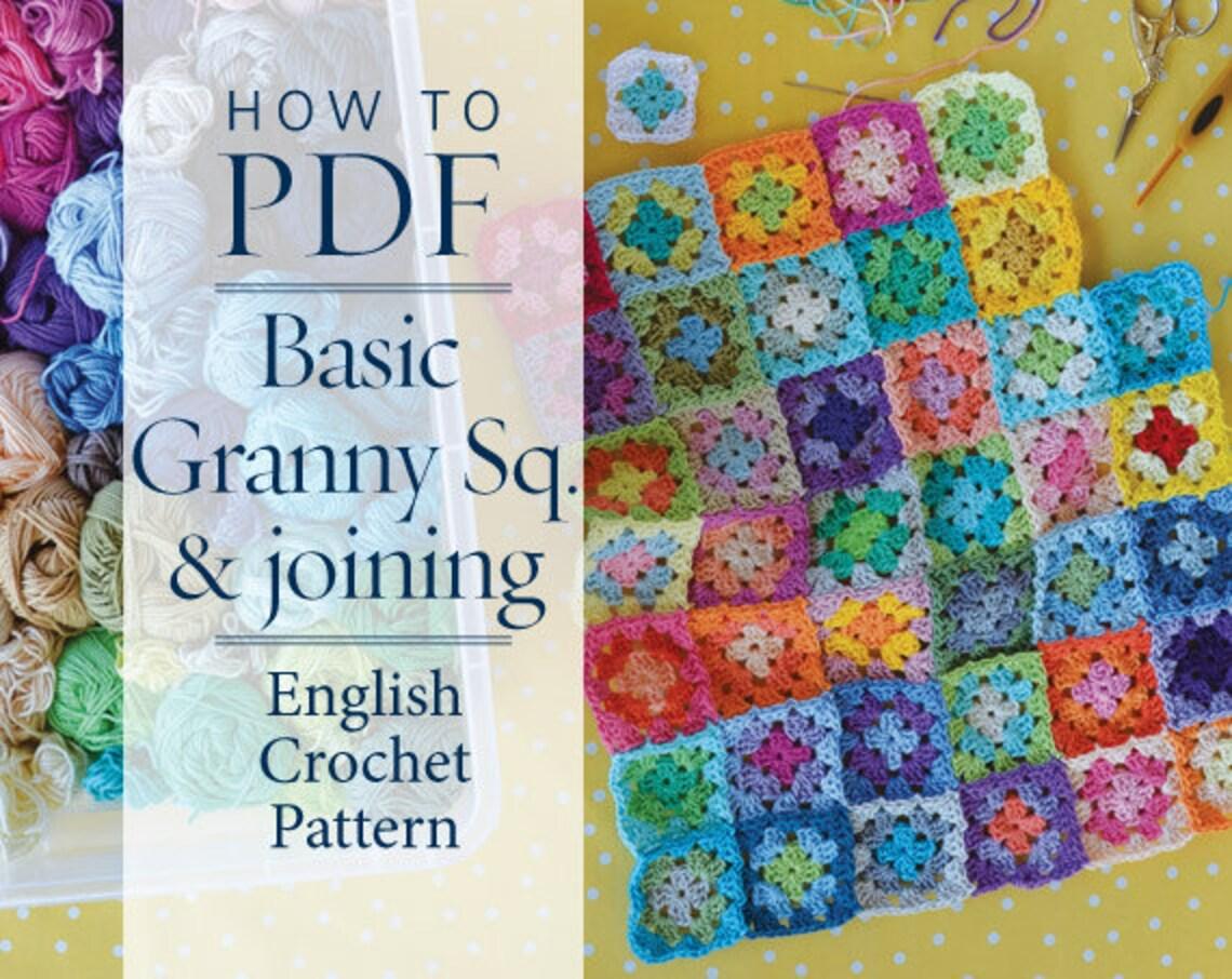 Crochet Pattern Basic Granny Square Joining Pattern Ready Etsy
