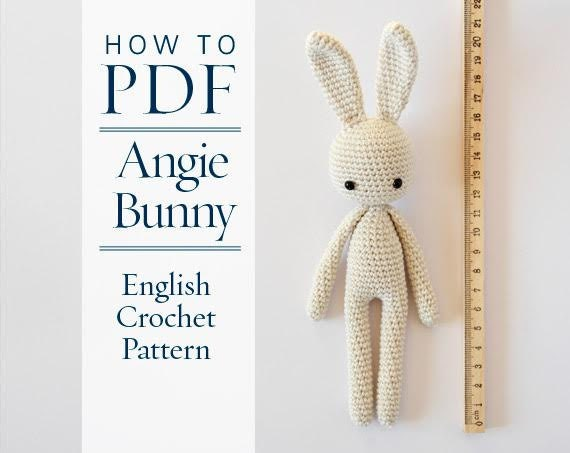 Crochet Pattern Angie Bunny Step By Step Us Terms Diy Etsy