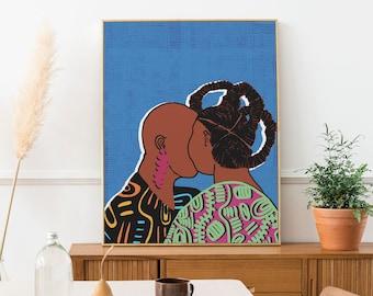 Love Is Art Print - Giclee Print - Black Art