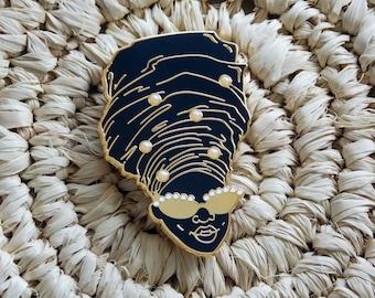 Olubusola Enamel Pin  - African - Lapel Pin - Afrocentric - Black Art - Statement Jewelry