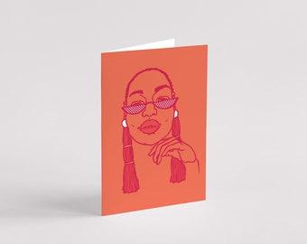 Yaa Greeting Card - Black Art - Black Woman - Black Girl - Art Card