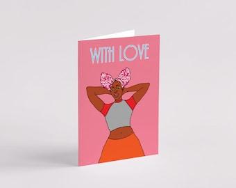 Lisa Greeting Card - Black Art - Black Woman - Black Girl - Art Card