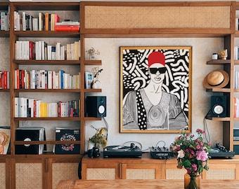 Emeka Art Print - Giclee Print - Black Art