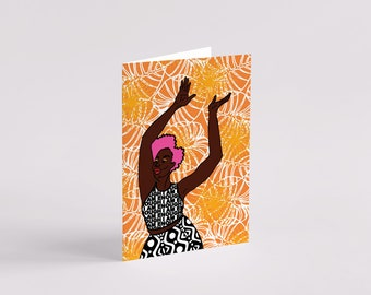 Ireti Greeting Card - Black Art - Black Woman - Black Girl - Art Card