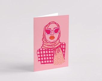 Raai Greeting Card - Black Art - Black Woman - Black Girl - Art Card