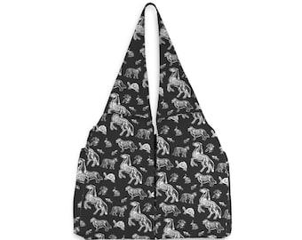 X-Ray Animal Skeleton Bag | Goth Shoulder Tote | Vet Gifts | Goth Handbag | Dark Cottagecore Goblincore | Vet Tech | Witchy Gift | Goth Bag