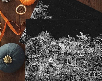 Halloween Nights Placemat Set | Dark Cottagecore | Autumn Tabletop | Halloween Home Decor | Dark Cottagecore | Witch Alter | Witchy Gifts