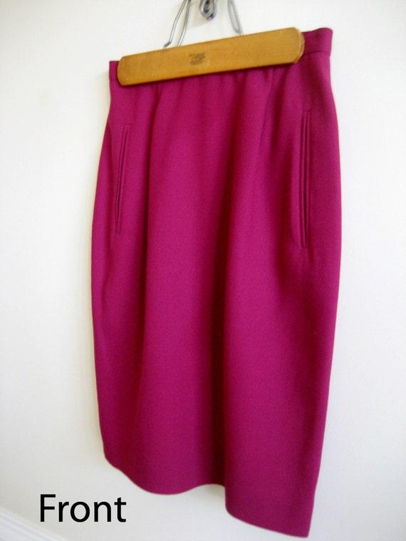 04df2f537 Dana Buchman Skirt Size 4 Petite Lined Skirt Purple Plum   Etsy