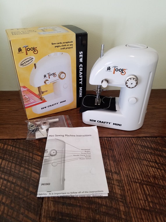 Sew Crafty Mini Battery Powered Compact Sewing Machine New Etsy Cool Sew Crafty Mini Sewing Machine Instructions
