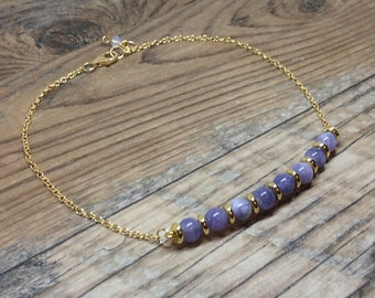 Angelite Stackable Knotted Anklet