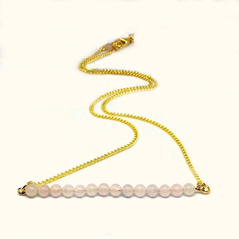 Rose Quartz jewelry set Valentines