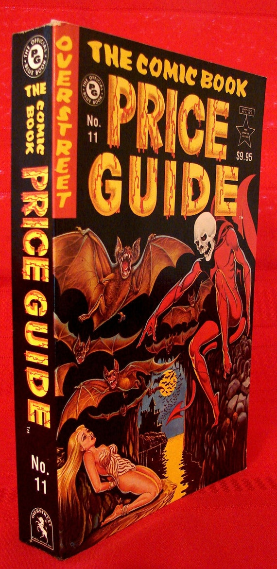 vintage 1981 82 comic book price guide r m overstreet 11th rh etsy com Old Comic Books Old Comic Books