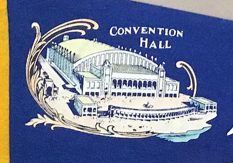 Vintage /'Atlantic City NJ Convention Hall/' New Jersey USA Souvenir Travel Pennant