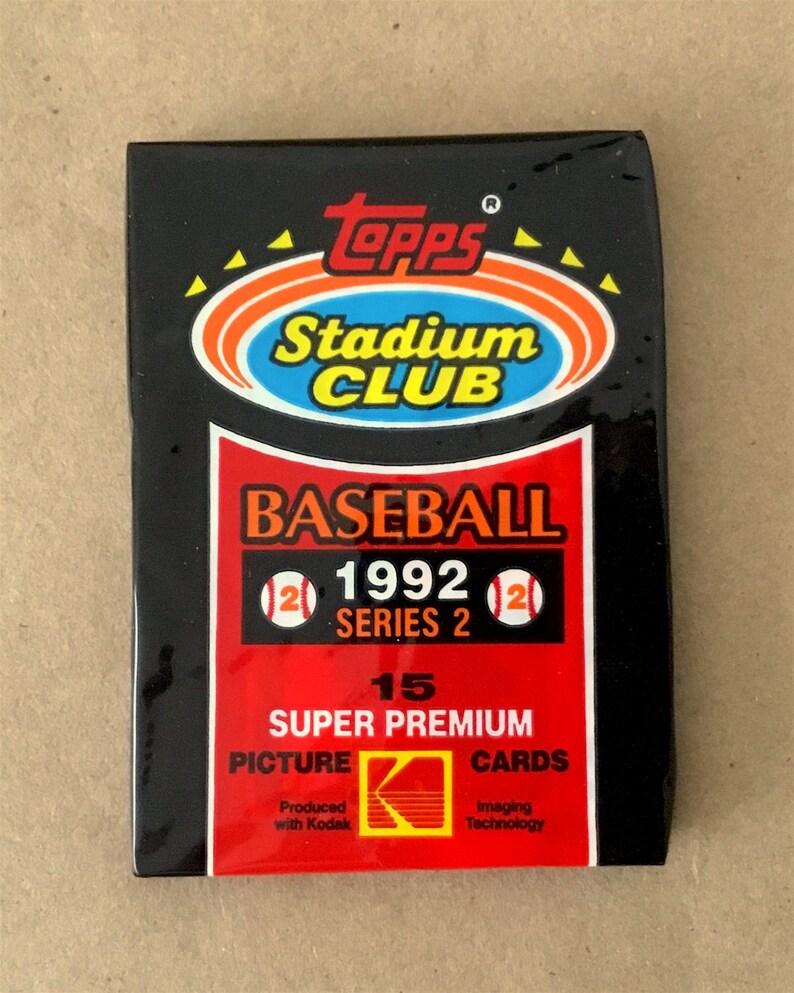 7 Vintage 1992 Topps Stadium Club Baseball Series 2 Card Packs 7 Pack Lot
