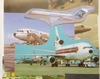 Airplane Paper Craft Kit - 40-Piece Cutout Pack of Airplane Clippings - Ephemera for Scrapbooking, Decoupage, Etc.