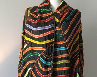 Beautiful Old Vintage Berber Haik|Shawl|Amazigh| Moroccan Textiles|Home Decor|Tribal Decor