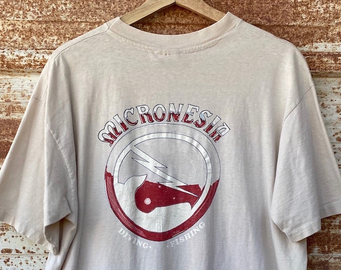 Vintage 1990's Micronesia Diving T-shirts, Single Stitch