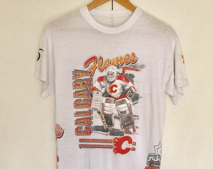 Vintage Soft T-shirts,Tee,Single stitch,hockey,calgary