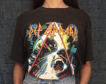 ae6f2d3c871 Vintage 1987 Def Leppard T-shirts