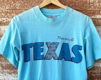 Vintage 1980's Texas Armadillos Souvenir T-shirts