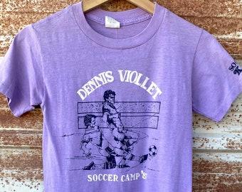 Vintage 1980's Dennis Viollet Soccer T-shirts
