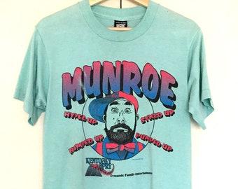 Vintage 80s Munroe Mint color T-shirts, comedian