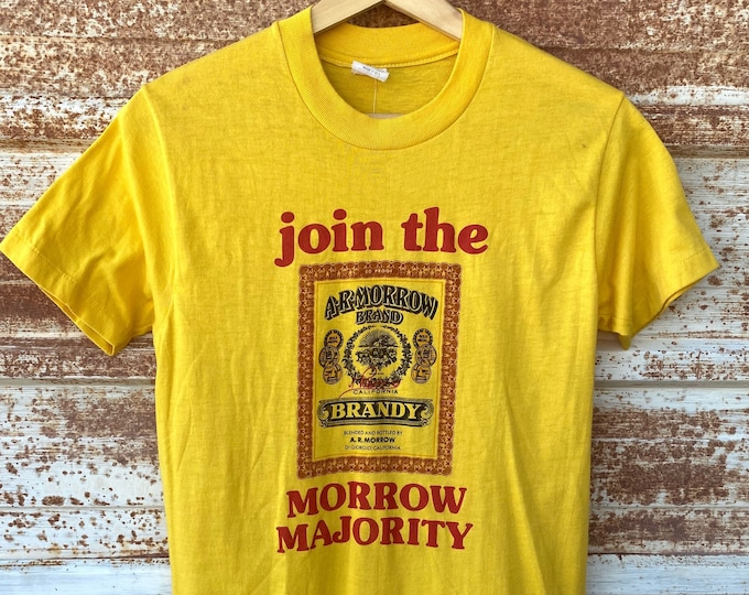Vintage 1970's A.R Morrow Brandy T-shirts, California