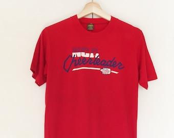Vintage Soft T-shirts,Tee,Single stitch,NCA,Cheerleader,paper thin