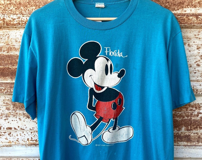 Vintage 1980's Disney Mickey Mouse T-shirts, Single Stitch