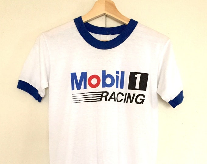 Vintage Mobil T-shirts,Racing,super soft,logo,ringer