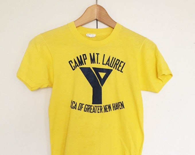 Vintage Soft T-shirts,Tee,Single stitch,yellow,50 50,camp