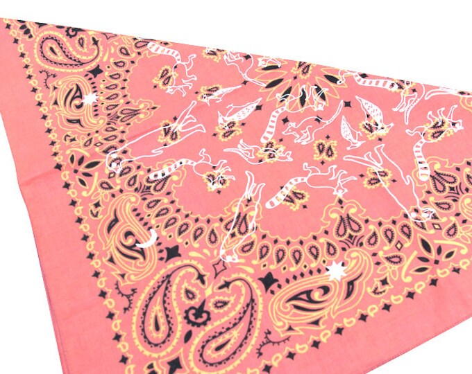 UTORI Animal Mandara Paisley Bandana. Extra Soft, Made in USA