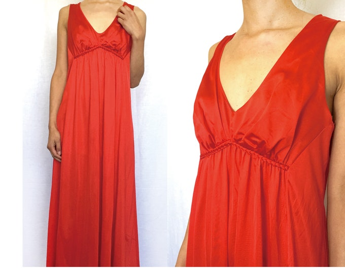 Vintage Red Long  Dress, Maxi dress
