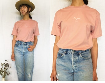 Utori Original Soft Cotton  Unisex T-shirts, Desert Pink, Snake,Japanese, Calligraphy,
