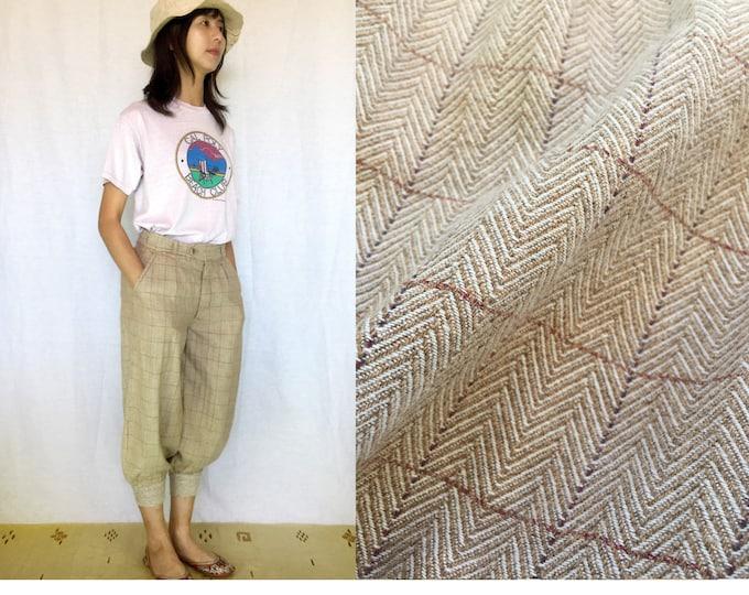 Vintage Mannish Style easy pants, Beige,