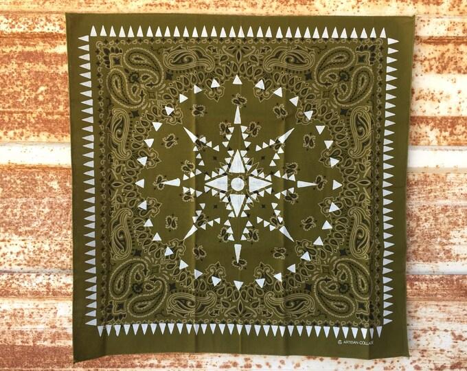 UTORI Geometric Paisley Bandana. modan, minimal,Extra Soft, Made in USA