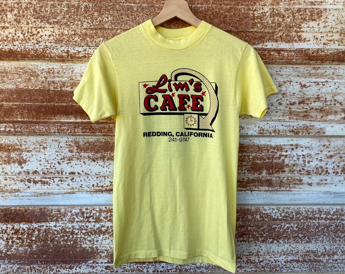Vintage 1979 lim's Cafe Single stitch, Soft T-shirts, Redding California, Made in USA
