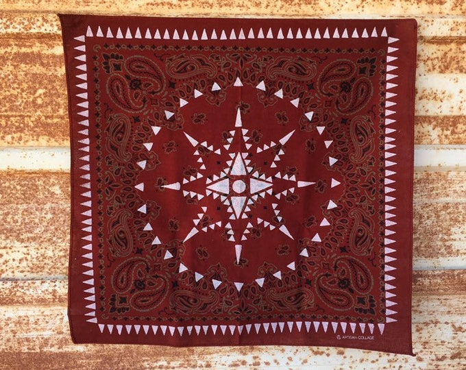UTORI Geometric Paisley Bandana. modan, minimal,Extra Soft, Made in USA