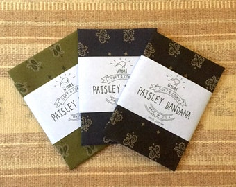 UTORI Soft & Comfy Paisley Bandana, Made in USA, 100% Cotton