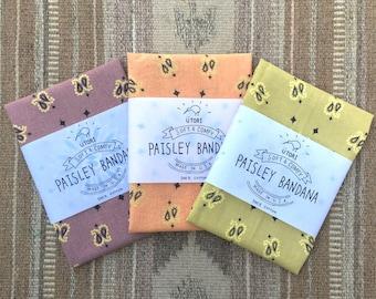 UTORI Soft & Comfy Paisley Bandana, Made in USA