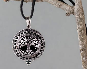 Oil Diffuser Necklace, Aromatherapy Jewelry, Oil Diffuser Locket, Essential Oil Necklace, Essential Oil Accessories, Tree of Life Necklace