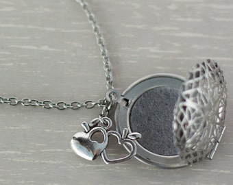 Essential Oil Diffuser Necklace, Stainless Steel Oil Locket, Oil Necklace, Aromatherapy Necklace, Oil Diffuser Jewelry, Teacher Gift